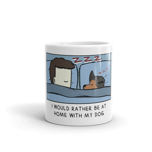 Home with my dog mug