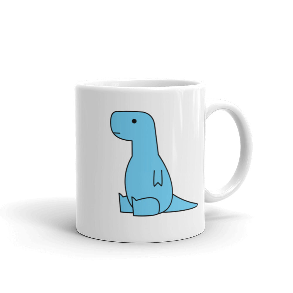 sitting blue t-rex