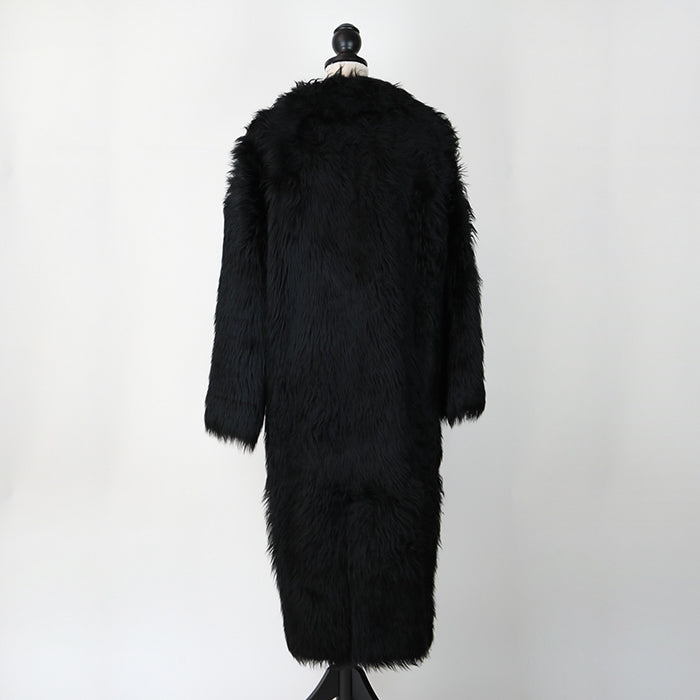 CELINE Double Breasted Shearling Coat
