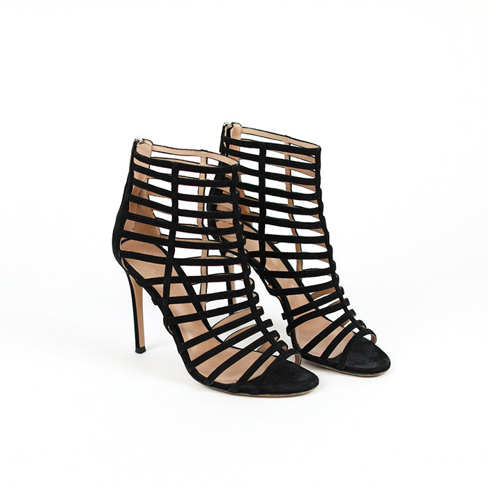 GIANVITTO ROSSI Suede High Sandals 105