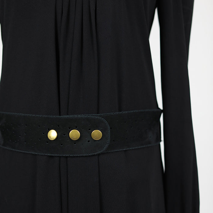 GUCCI Dress With Suede Details