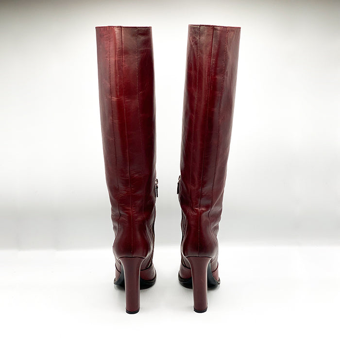 LANVIN Used Look Knee High Boots