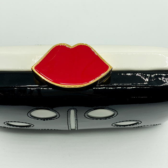 LULU GUINNESS Fifi Domino Clutch - Limited Edition