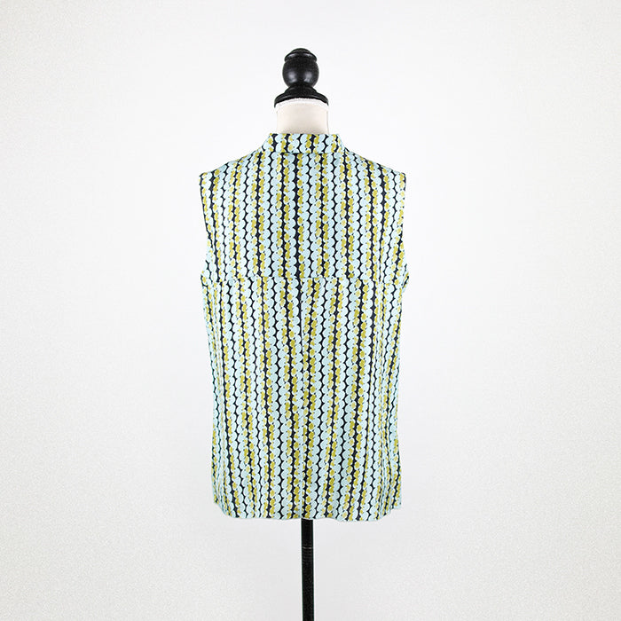 MARNI Ruffled Sleeveless Silk Top
