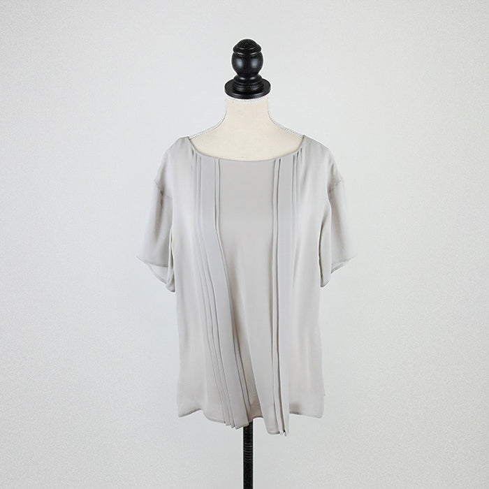 PRADA Pleated Silk Top