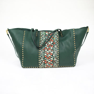 VALENTINO Tribal Inspired Rockstud Tote Bag / Runway Bag Collection