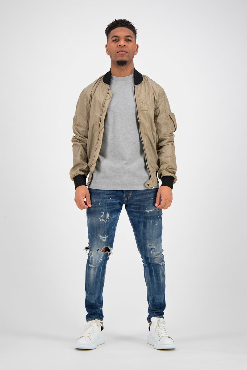 Essential Bomber Jacket - Sand