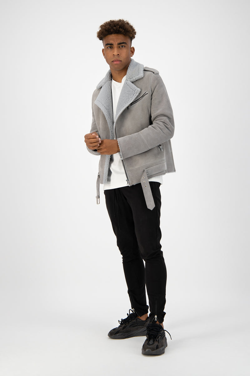 Grey Shearling Perfecto