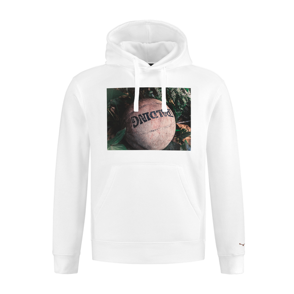 White Basketball Hoody