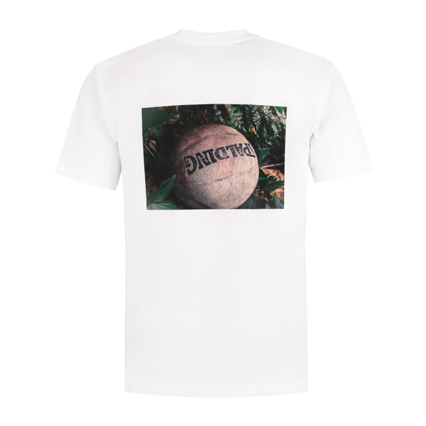White T Basketbal print