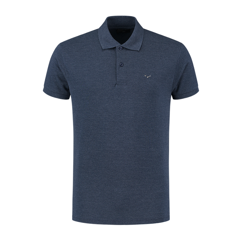 Polo shirt - Melange Blue