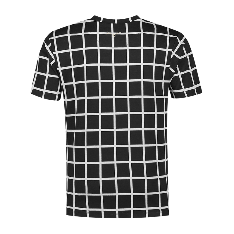 Black Checkered cream Stripe T-shirt
