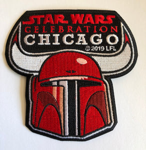 Star Wars Celebration Chicago Bulls Mandalorian Patch