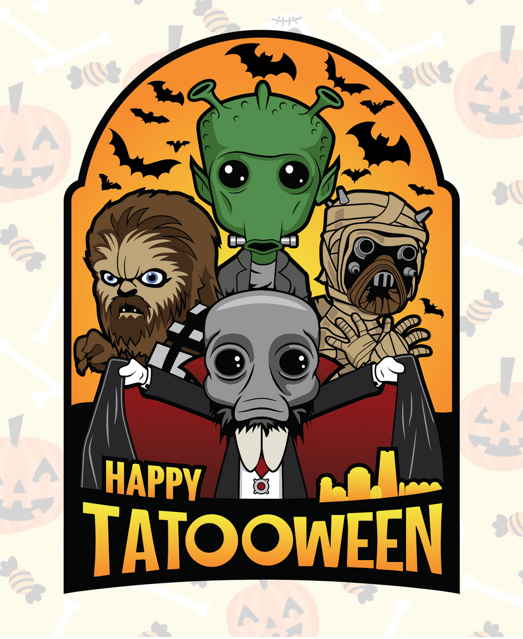 Happy Tatooween Patch Only $5.00