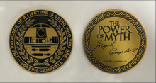 "Load image into Gallery viewer, ""Power Of Myth"" R2-D2, Joseph Campbell coin"