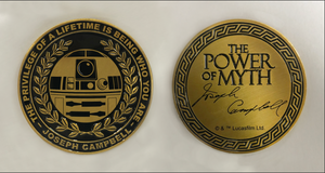 """Power Of Myth"" R2-D2, Joseph Campbell coin"
