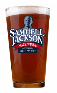 Alec Guinness and Samuel L Jackson Pint Glasses