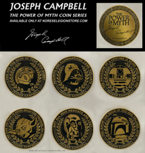 "Load image into Gallery viewer, ""Power Of Myth"" Joseph Campbell Coin series, Complete Set of Six."