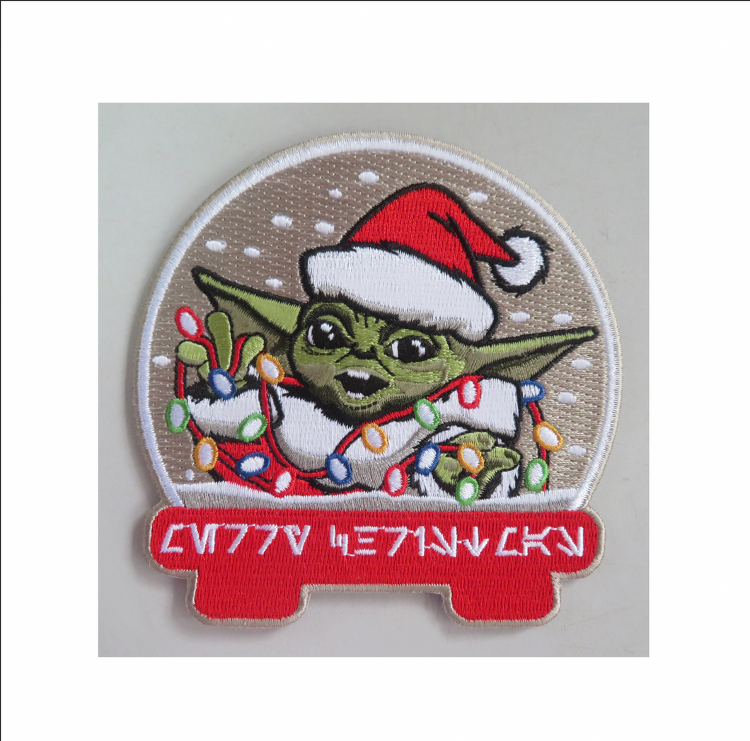 Baby Yoda Santa Patch and 2 Stickers