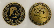 "Load image into Gallery viewer, ""Power Of Myth"" Darth Vader, Joseph Campbell coin"