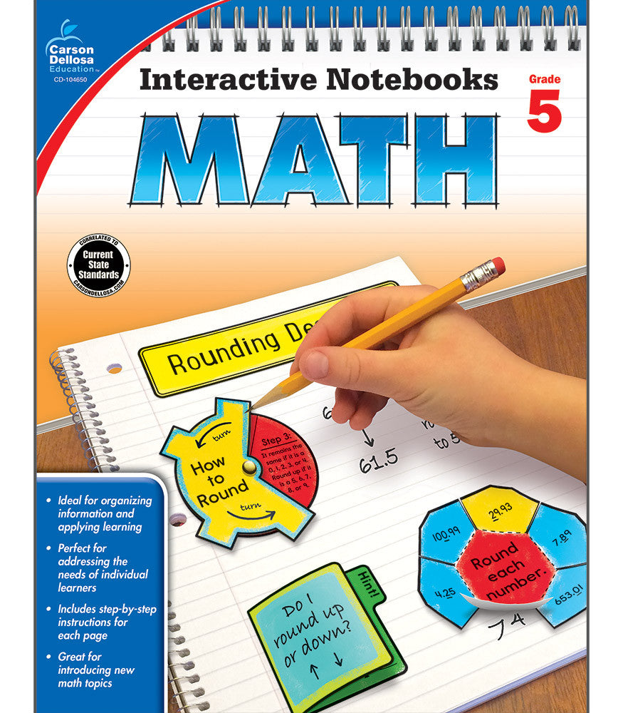 Interactive Notebooks: Math Resource Book Fifth Grade