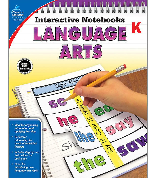 Interactive Notebooks: Language Arts Resource Book Kindergarten - Supplies by Teachers