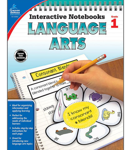 Interactive Notebooks: Language Arts Resource Book First Grade