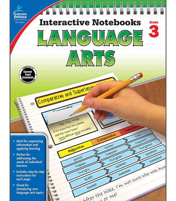 Interactive Notebooks: Language Arts Resource Book Third Grade - Supplies by Teachers
