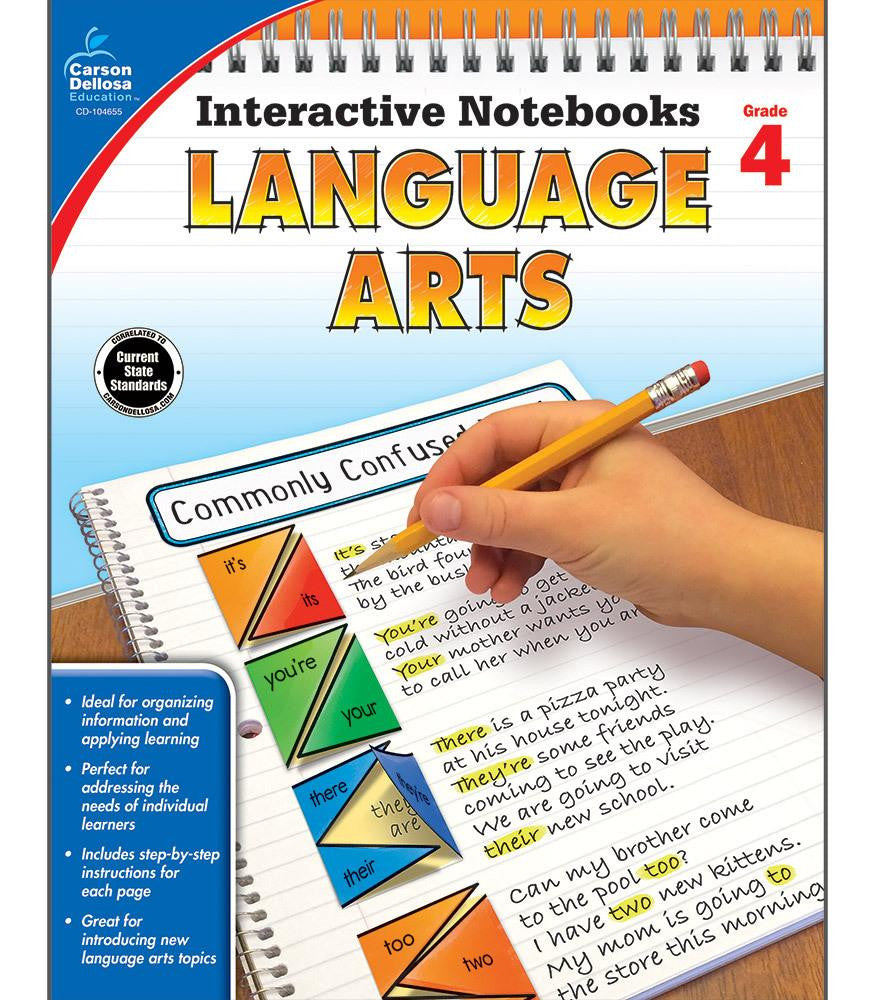 Interactive Notebooks: Language Arts Resource Book Fourth Grade