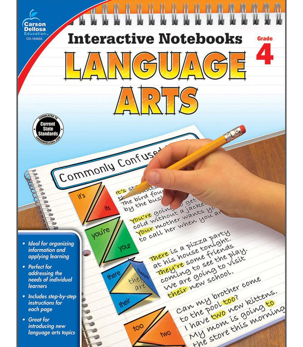 Interactive Notebooks: Language Arts Resource Book Fourth Grade - Supplies by Teachers