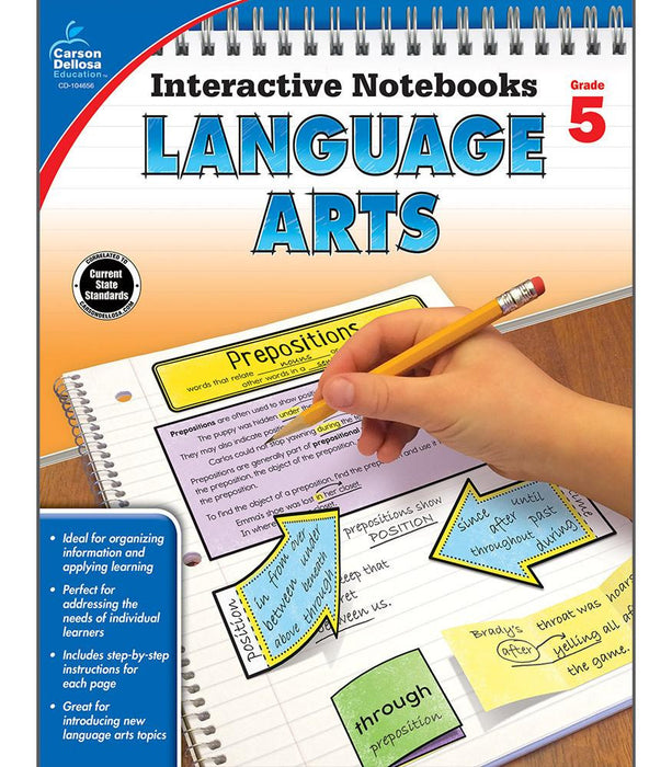 Interactive Notebooks: Language Arts Resource Book Fifth Grade - Supplies by Teachers