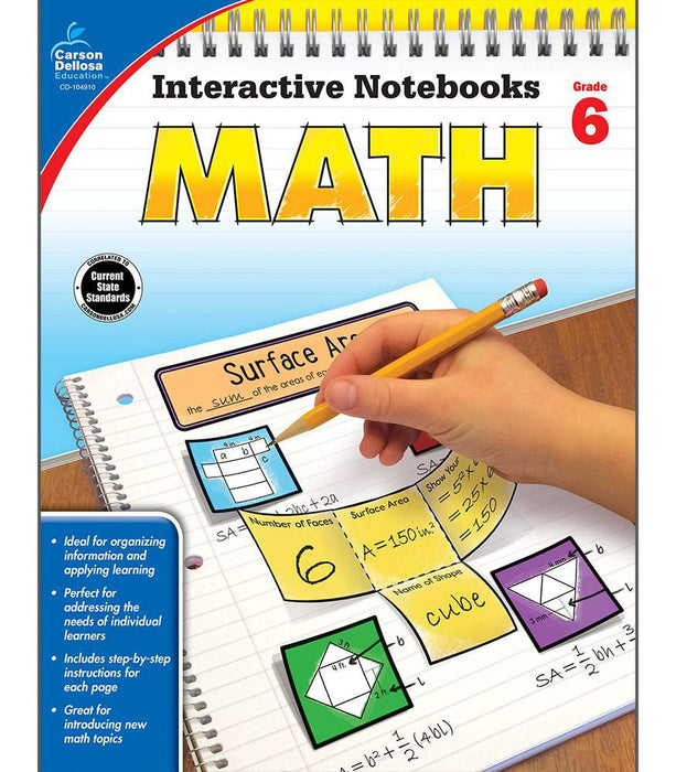 Interactive Notebooks: Math Resource Book Sixth Grade - Supplies by Teachers
