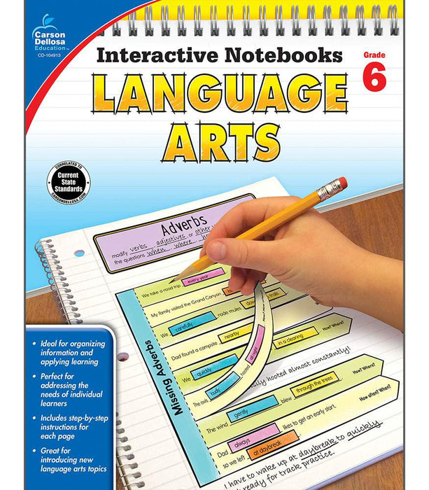Interactive Notebooks: Language Arts Resource Book Sixth Grade - Supplies by Teachers