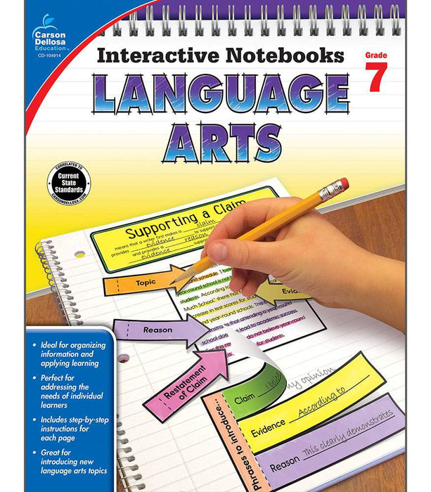 Interactive Notebooks: Language Arts Resource Book Seventh Grade - Supplies by Teachers