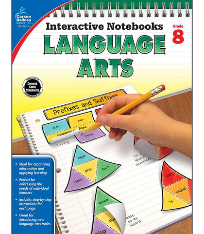 Interactive Notebooks: Language Arts Resource Book Eighth Grade