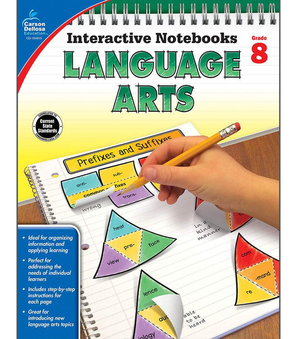 Interactive Notebooks: Language Arts Resource Book Eighth Grade - Supplies by Teachers