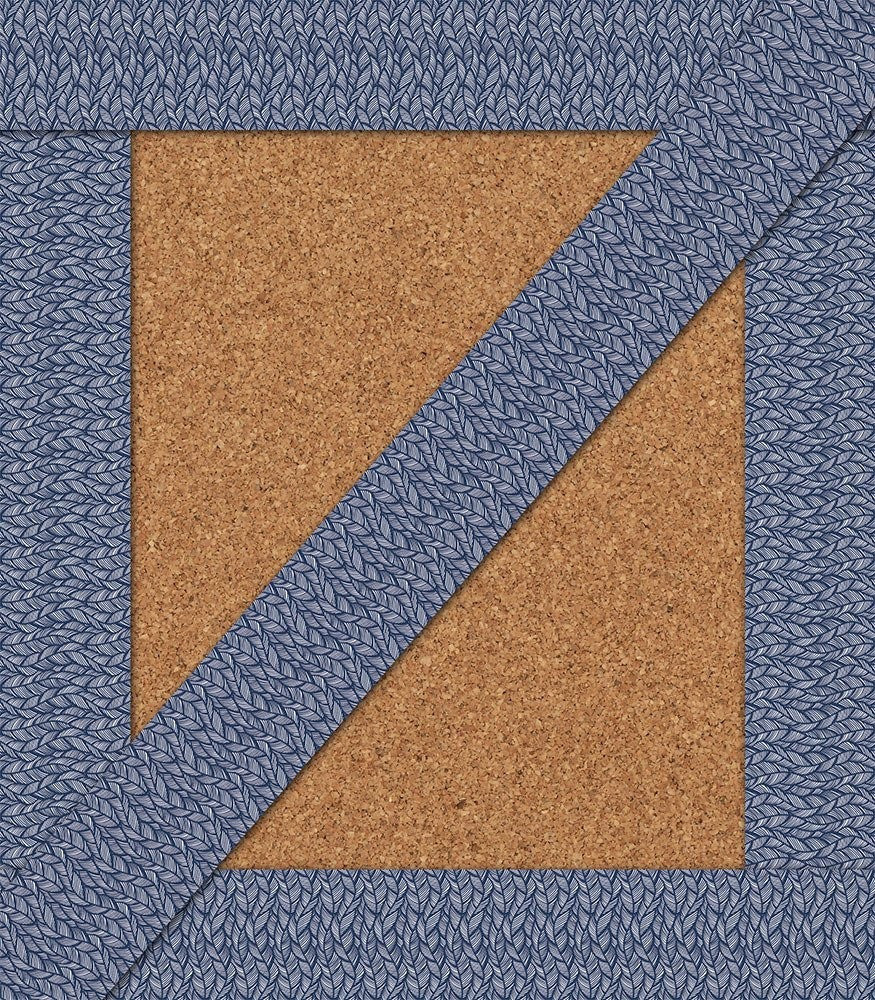 You-Nique Navy Feather Straight Borders