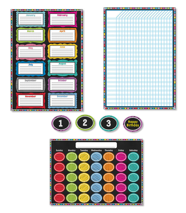 Colorful Chalkboard Bulletin Board Set