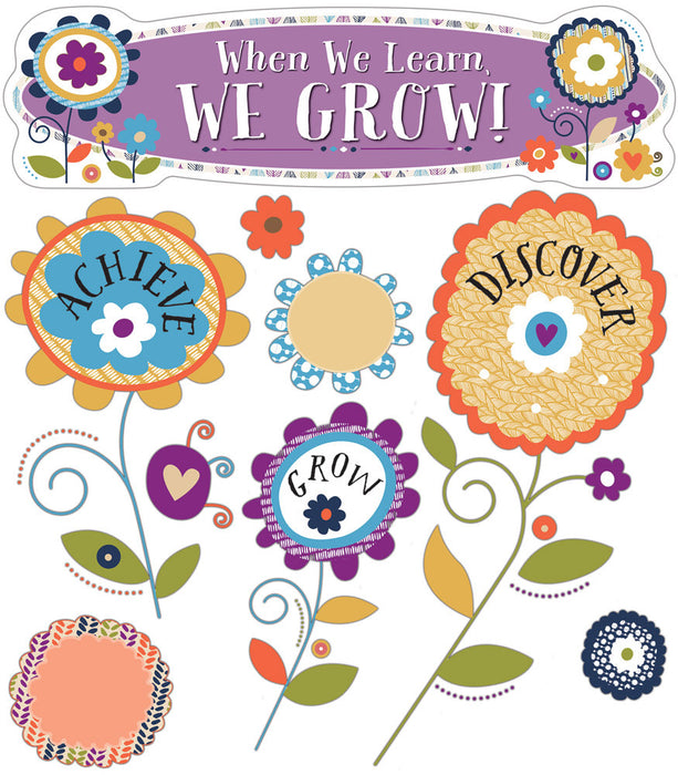 You-Nique When We Learn, We Grow! Mini Bulletin Board Set - Supplies by Teachers