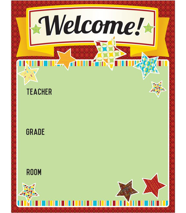 Hipster Welcome Chart - Supplies by Teachers