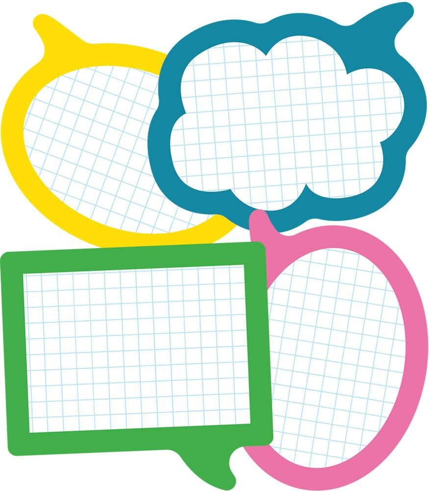 School Pop Speech Bubbles Cut-Outs