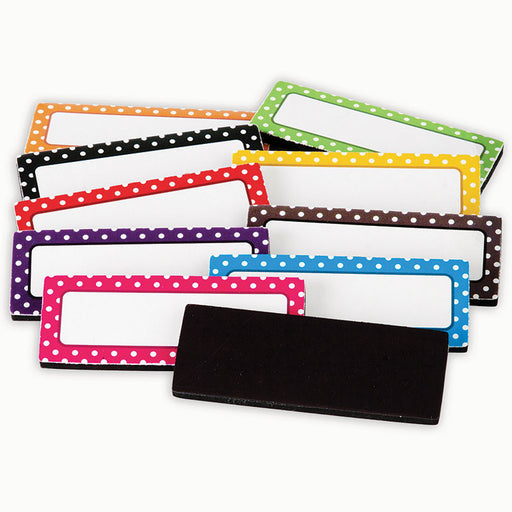 Polka Dot Magnetic Labels - Supplies by Teachers