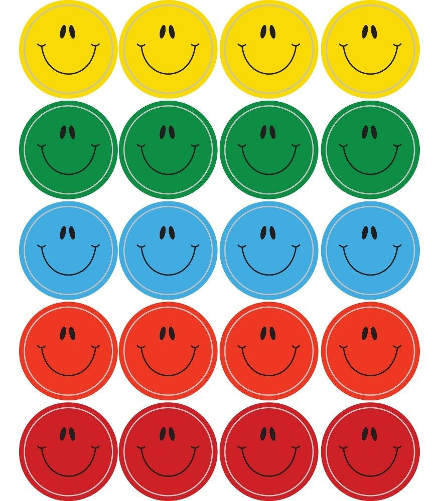 Smiley Faces, Multicolor Shape Stickers