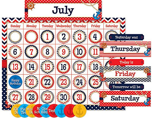 Nautical Calendar BB Set - Supplies by Teachers