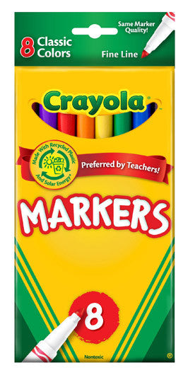 Crayola Markers Fine Tip 8 count - Supplies by Teachers