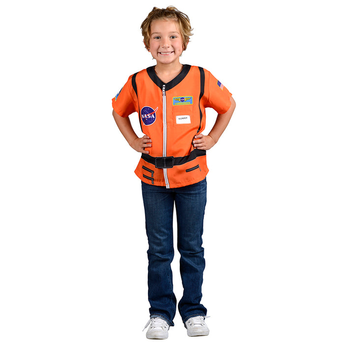 My 1st Career Gear Orange Astronaut Top One Size Fits Most Ages 3-6