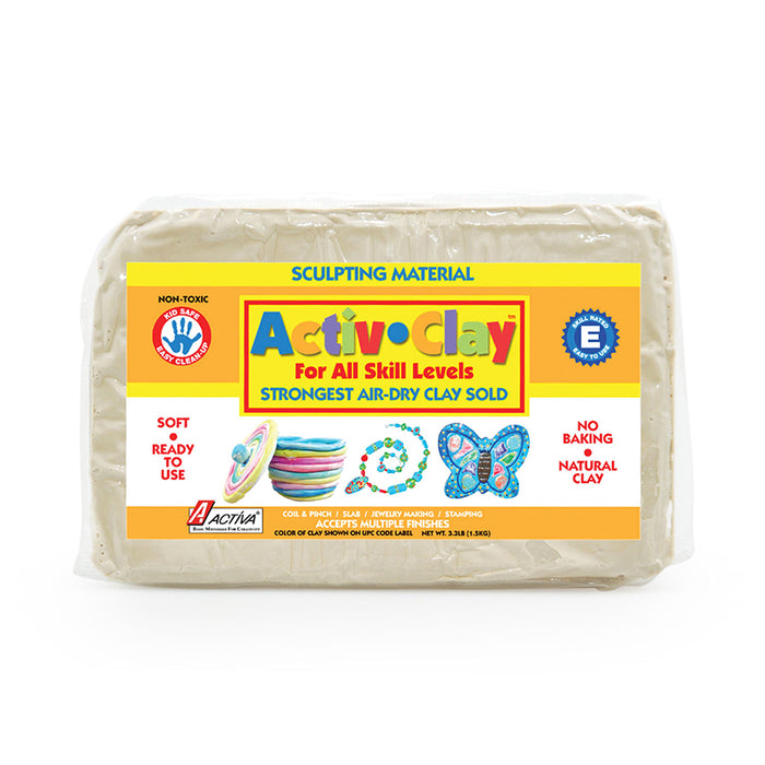 Activ Clay White 3.3 Lbs - Supplies by Teachers