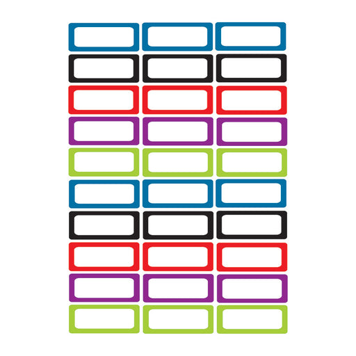 Die Cut Magnets Assorted Solid Color Nameplates