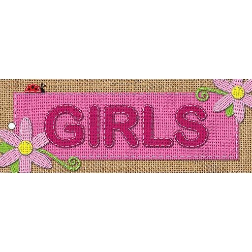 Laminated Hall Pass Burlap Girls