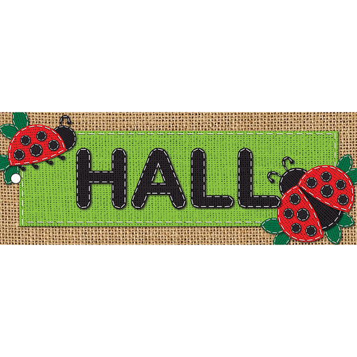 Laminated Hall Pass Burlap Hall